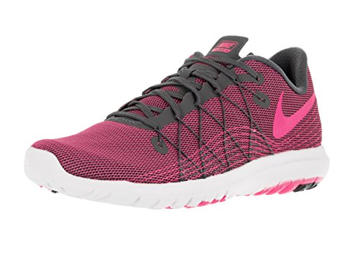 Nike Damen Wmns Flex Fury 2 Laufschuhe Gris (Dark Grey / Pink Blast-White)