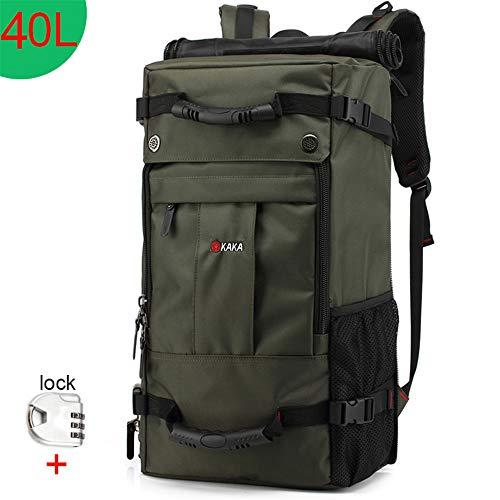 TnXan Waterproof Travel Backpack Hiking Backpack Trekking Rucksacks Men Women Multifunction 17.3 Laptop Backpacks Male Outdoor Luggage Bag mochilas 50L