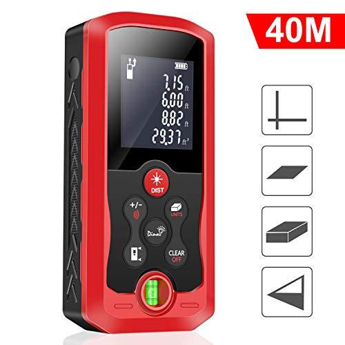 40m Entfernungsmesser, BEBONCOOL Professional Laser Entfernungsmesser Distanzmessgerät Lasermessgerät (Messbreich 0,05~40m/±2mm mit LCD Hintergrundbeleuchtung, Staub- und Spritzwasserschutz IP 54)