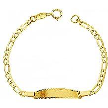 bf6a79629680 Alda Joyeros Esclava bebé en Oro Amarillo de 9 ktes - eslabón 3x1.  Personalizable