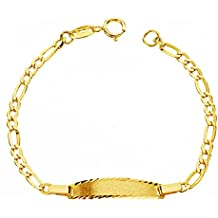 f745e28a4270 Alda Joyeros Esclava bebé en Oro Amarillo de 9 ktes - eslabón 3x1.  Personalizable