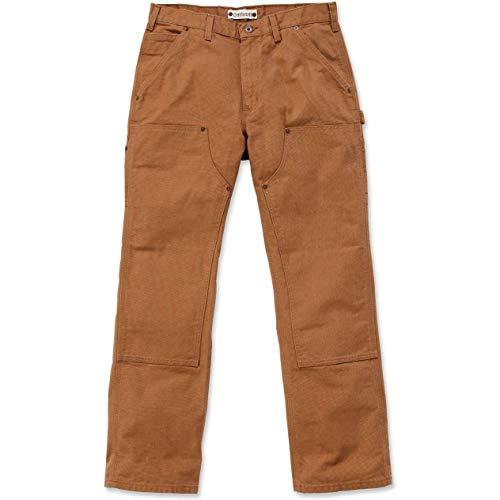 Duck Work Pant (Carhartt Workwear Hose Washed Duck Work Dungaree EB136 Arbeitshose, braun Gr. 34/32, EB136)