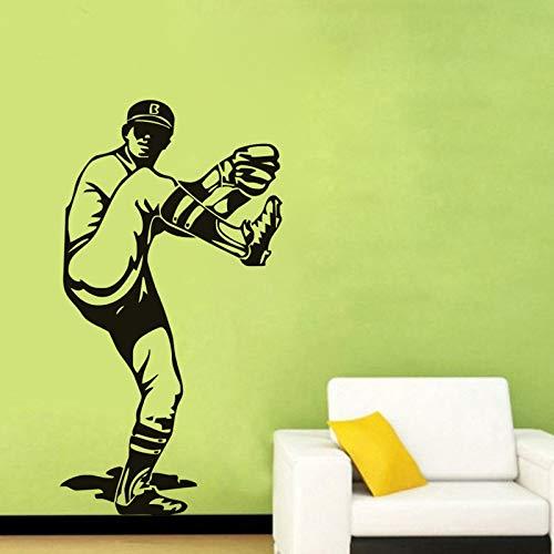 Kreative baseball krug sportler vinyl wandaufkleber wohnkultur wohnzimmer abnehmbare diy kunst wandtattoo 57 * 107 cm