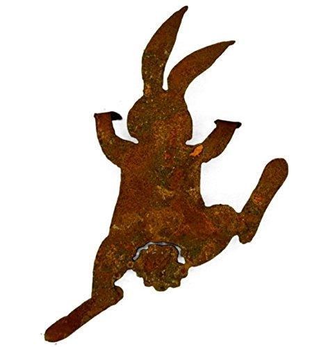 Metallmichl Edelrost Häschen/Hase Bunny kletternd 25 cm Hoch Zum Einhängen Osterhase aus Rost Metall/Oster-Deko/Oster-Dekoration