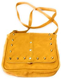 H&V Synthetic Leather Stylish Mustard Sling Bag (L - 7 Inch X B -3.5 Inch X H - 6.5 Inch)