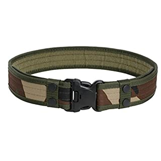 Aquiver Tactical Belt Outdoor Sports Waistband Army Tactical Military Trouser Buckle Belt (Army Green)