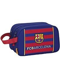 Safta FC Barcelona Neceser Adaptable, 26 x 15 x 13 cm, Color Azul Marino
