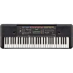 Yamaha PSR-E263 - Clavier électronique avec 61 touches - Instrument de musique compact et léger pour débutants - Noir