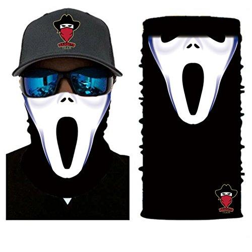 [ 44 Designs ] Bedrucktes Multifunktionstuch Bandana Halstuch Kopftuch: Face Shield aus Mikrofaser - Material ist flexibel und atmungsaktiv - Maske fürs Motorrad-, Fahrrad- und Skifahren