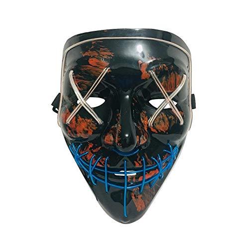 zaote Halloween-Maske LED leuchtende Maske zweifarbig leuchten Horror-Maske für Festival Cosplay Halloween-Kostüm Sweetie clever (Sweetie Kostüm)