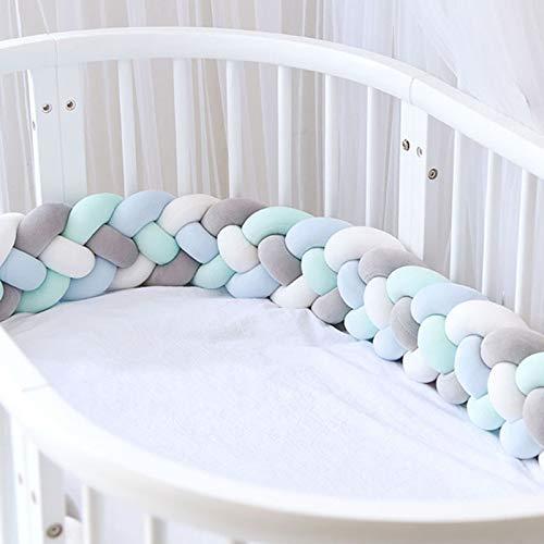 HiCollie Bettumrandung,Baby Nestchen Kinderbett Stoßstange Weben Bettumrandung Kantenschutz Kopfschutz für Babybett Bettausstattung 220cm (7C)