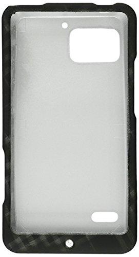 Luxmo Schutzhülle für Motorola Droid Bionic XT875, robust, gummiert, Smoke/Diagonal Checker Diagonale Checker