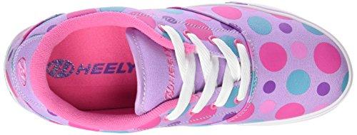Heelys - Launch 770703, Scarpe con 1 rotella Bambina Multicolore (Lilac/Multi Polka Dots)