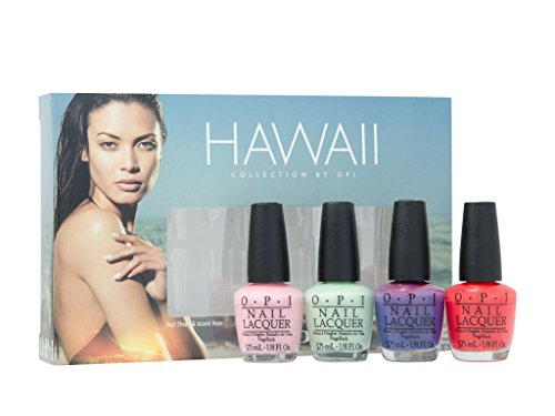 OPI Smalto per Unghie Mini Kit, Hawaii Little Hulas 2015, 4 x 3.75 ml