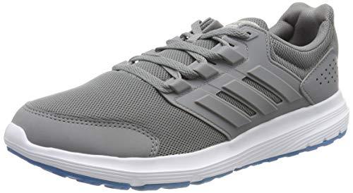 adidas Herren Galaxy 4 Laufschuhe, Grau (Grey/Grey/Shock Cyan 0), 41 1/3 EU