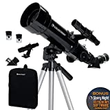 Celestron Travel Scope 70 - Telescopio portable con ampliación de 20x, longitud focal 40...