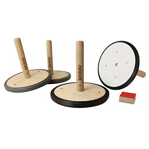 pedalo® Curling Straße oder Halle aus Holz I Indoor & Outdoor Curling I Familienspiel I Spieleabend (Straße)