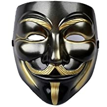 Vendetta Masque Guy Fawkes Mask Halloween Cosplay Costume