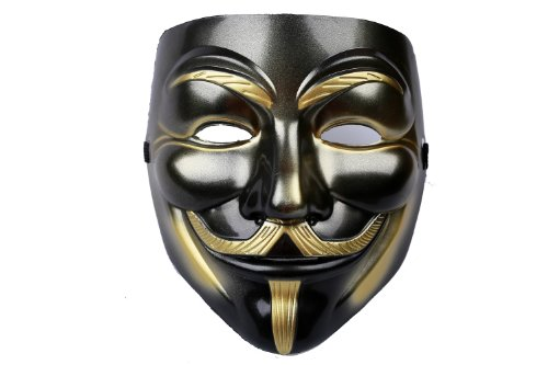 Kostüm Guy Schnell - Guy Fawkes Maske Vendetta Mask Cosplay Costume Accessories Black