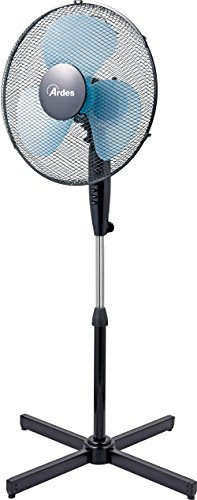 ARDES AR5EA40P Ventilateur sur pieds, Noir/Bleu, Base ampia