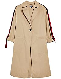 6ed9e7e9 Topshop New ex Camel Side Stripe Relax Fit Trench Coat Jacket RRP £65 ...