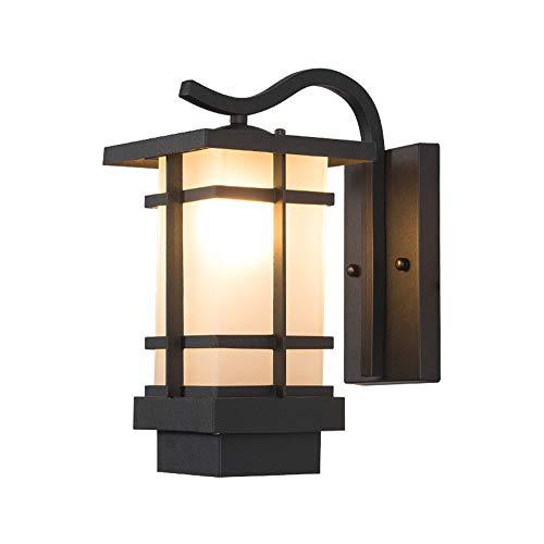 Antike Wandleuchte Retro Vintage Außen-Wasserdichter Designer Wandlampe Eisen Glas Schirm E27 Außenleuchte Landhaus Stil Lampen Flur Balkon Außenlampe Eingangs Loft IP44 Dekoration Leuchten (Weiß)