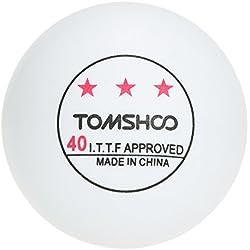 TOMSHOO 50Pcs/100Pcs Pelotas del Ping-pong, 3-Star 40mm Entrenamiento Avanzado