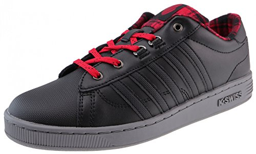 K-Swiss Hoke Plaid Black Charcoal Jungen_Sneaker, Groesse:37.5_us05.0_uk04.5k (Plaid-herren Schuhe)