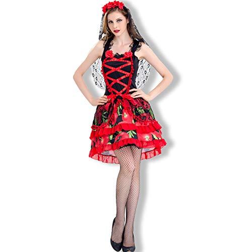 Simmia Halloween Kostüm,Halloween Braut Gespenstische Anzieh Show, 8528, ()