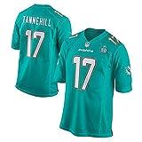 Miami Dolphins NFL Trikot 14# 17# Trikot Fan Edition Stickerei Kurzarm Top T-Shirts-3-XXXL