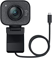 Logitech StreamCam, live stream webcam, Full 1080p HD 60fps verticale video, slimme autofocus en belichting, D