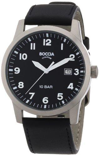 Boccia Herren-Armbanduhr Leder 597-03 Boccia Uhren