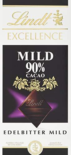 Lindt & Sprüngli Excellence Mild 90 {e74f66473413cac07f7456d318b78730d85a98389fc9880958dc6078e2abf42c}, 5er Pack (5x 100 g)