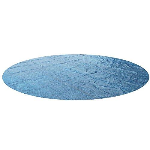 Miganeo® 549 cm Premium Solarplane schwarz/blau rund Poolheizung für pool