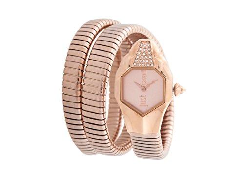 Just Cavalli Damen Analog-Digital Quarz Uhr mit Edelstahl Armband JC1L022M0035