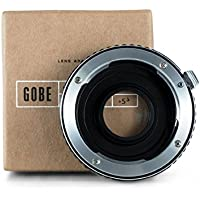 Gobe - Adaptador de lentes Pentax de montura K para cuerpo de cámara Nikon de montura F (con cristal óptico)