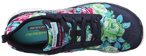 Skechers Damen Flex Appeal Wildflowers Sneakers Blau (NVMT)