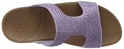 FitFlop Rokkit Slide, Sandales femme Violet (summer Lilac)