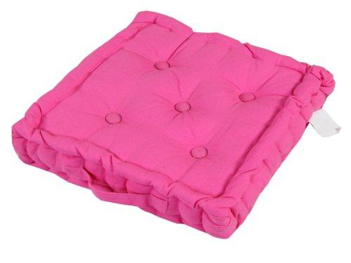 Homescapes Farbenfrohes Sitzkissen Stuhlkissen Sitzerhöhung Stuhlauflage, 40 x 40 cm, 100% reine Kaliko Baumwolle mit Polyester Füllung,...