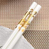 A : 1Pair Chinese Design Ceramic Chopsticks Chinese Environmental Protection Bone Porcelain Chopsticks Length 25cm Tableware
