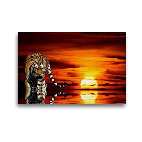 Premium Textil-Leinwand 45 x 30 cm Quer-Format in der Abendsonne | Wandbild, HD-Bild auf Keilrahmen, Fertigbild auf hochwertigem Vlies, Leinwanddruck von Elke Krone