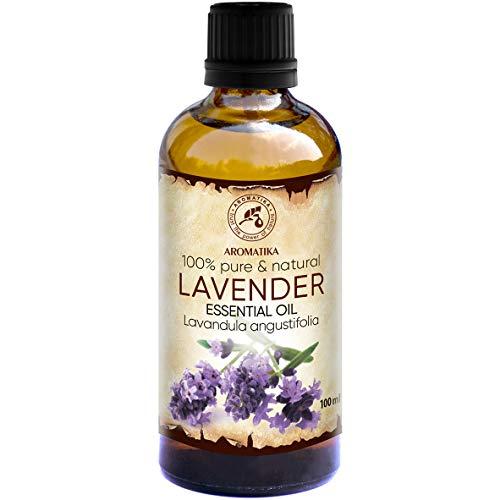 Lavendelöl 100ml - Bulgarien - 100{548689e243750c6a616bdff4cc02a771ee3dbb66b2bd73f0dbe0138ff490f4e7} Rein Ätherisches Lavendel Öl für Guten Schlaf - Beauty - Schönheit - Aromatherapie - Entspannung - Raumduft - Duftlampe - Lavendelöl Ätherisch von Aromatika