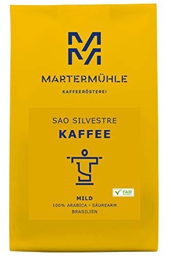 Martermühle | Kaffee Sao Silvestre (1kg) | Ganze Bohnen | Premium Kaffeebohnen aus Brasilien | Schonend geröstet | Kaffee säurearm | 100% Arabica