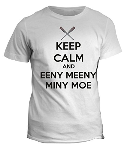 Tshirt keep calm and eeny meeny miny moe HUMOR - the Walking dead - LUCILE - in cotone by Fashwork