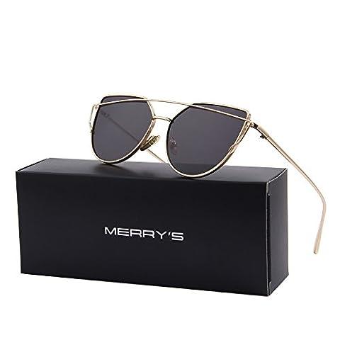 MERRY'S - Lunette de soleil - Femme Noir Gold&Black