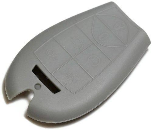 dantegts Gray Silikon Schlüsselanhänger Cover Case Smart-Fernbedienung Beutel Schutz Schlüssel Kette passend für: DODGE Challenger 09-12 (Dodge Fernbedienung Challenger)