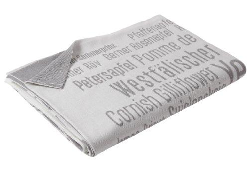 Uppercase Merino-Plaid BIG APPLE, Weiß/Grau, 140 x 200 cm