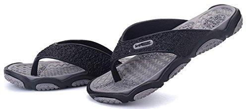 Ein Bißchen Herren Sommer Früling Outdoor Fashion Atmungsaktive casual Zehentrenner Sandalen Grau