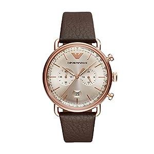 Emporio Armani Men's Analogue Quartz Watch with Leather Strap AR11106