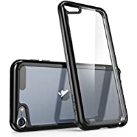iPod Touch 6th Generation Case, [Scratch Resistant] i-Blason **Clear** [Halo Series] for Apple iTouch 5/6 Hybrid Bumper Case Cover (Clear/Black), [Importado de UK]